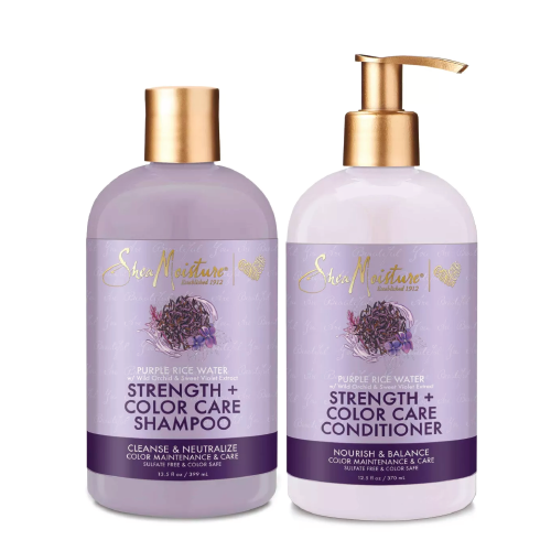 Shea Moisture Purple Rice Water Shampoo Conditioner Combo