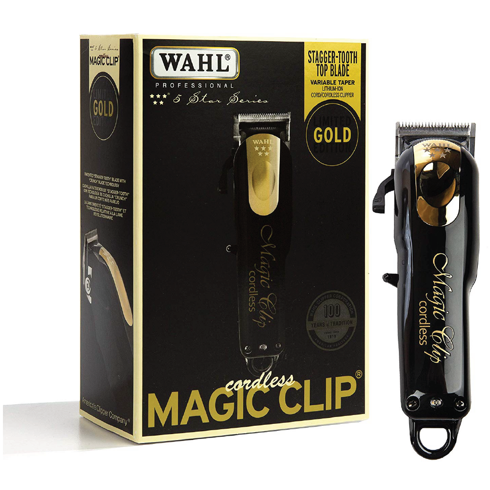 Wahl Cordless 5-Star Magic Clip Clippers Gold Edition