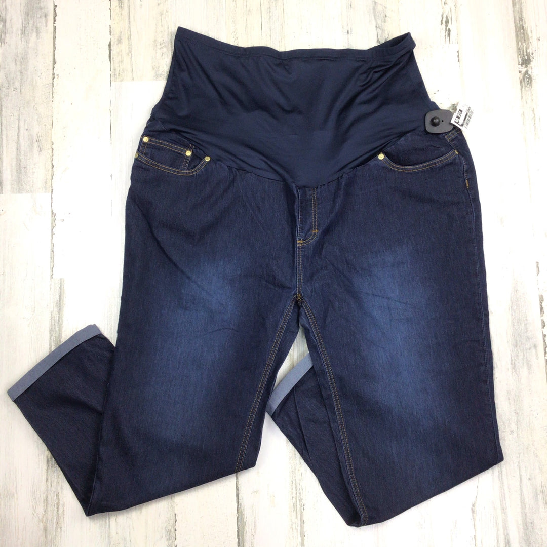 Primary Photo - BRAND: OH MAMMA <BR>STYLE: MATERNITY JEANS <BR>COLOR: DENIM <BR>SIZE: 2X <BR>SKU: 258-25885-32883
