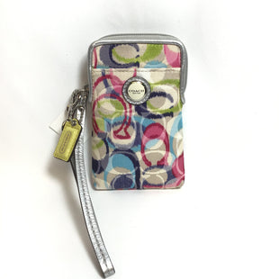 Primary Photo - BRAND: COACH STYLE: WRISTLET COLOR: MULTI OTHER INFO: PINK BLUE GREEN SIGNATURE PRINT SKU: 258-25873-34016