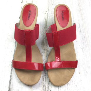 Primary Photo - BRAND: STYLE AND COMPANY STYLE: SANDALS LOW COLOR: RED SIZE: 7 OTHER INFO: SLIP ON WEDGE SKU: 258-25877-17417
