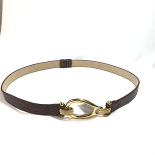 Primary Photo - BRAND:    CLOTHES MENTOR STYLE: BELT COLOR: BROWN OTHER INFO: GOLD BUCKLE HOOK CLOSURE SKU: 258-25894-21698