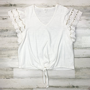Primary Photo - BRAND: MAURICES STYLE: TOP SHORT SLEEVE COLOR: IVORY SIZE: 1X SKU: 258-258113-8375
