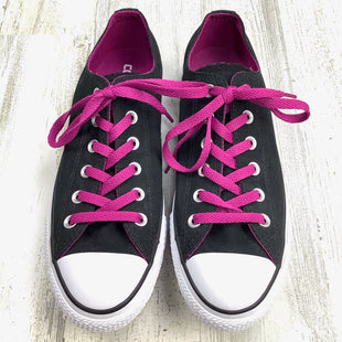 Primary Photo - BRAND: CONVERSE STYLE: SHOES FLATS COLOR: BLACK WHITE SIZE: 9 OTHER INFO: PURPLE LACES SKU: 258-25871-12989