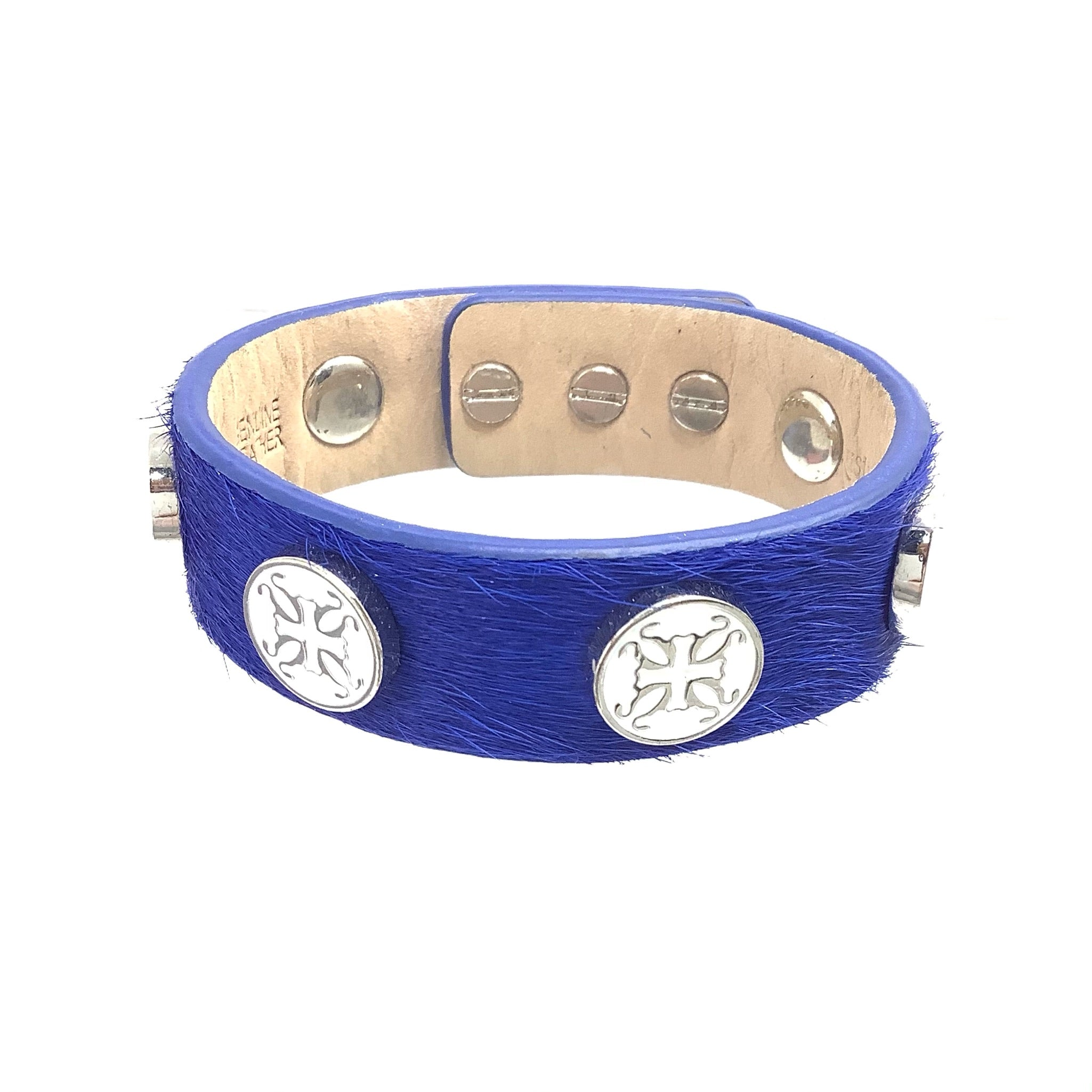 Primary Photo - BRAND: RUSTIC CUFF <BR>STYLE: BRACELET <BR>COLOR: BLUE <BR>OTHER INFO: MEGAN WIDE CALF HAIR CUFF <BR>SKU: 258-258113-6854
