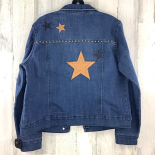 Primary Photo - BRAND: BACCINI STYLE: JACKET OUTDOOR COLOR: DENIM SIZE: L OTHER INFO: STARS SKU: 258-25873-36746