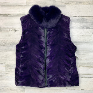 Primary Photo - BRAND:  CMB STYLE: VEST COLOR: PURPLE SIZE: M OTHER INFO: REAL FUR SKU: 258-25871-12028