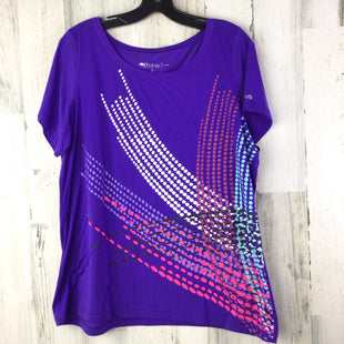 Primary Photo - BRAND: IDEOLOGY STYLE: ATHLETIC TOP SHORT SLEEVE COLOR: PURPLE SIZE: 1X SKU: 258-258111-10317