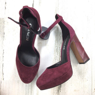 Primary Photo - BRAND: COACH STYLE: SHOES HIGH HEEL COLOR: BURGUNDY SIZE: 6 OTHER INFO: CHRYSTIE SUEDE PUMP SKU: 258-25871-13349