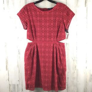 Primary Photo - BRAND: MADEWELL STYLE: DRESS SHORT SHORT SLEEVE COLOR: RED SIZE: L SKU: 258-258111-10088