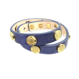 Primary Photo - BRAND: RUSTIC CUFF STYLE: BRACELET COLOR: BLUE OTHER INFO: WRAP W/ GOLD SKU: 258-25877-18921