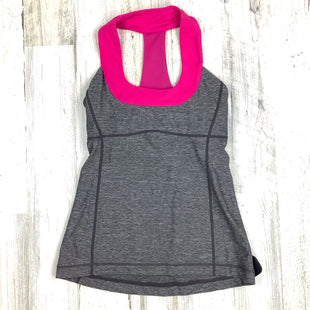 Primary Photo - BRAND: LULULEMON STYLE: ATHLETIC TANK TOP COLOR: GREY SIZE: S OTHER INFO: PINK DETAIL SKU: 258-25877-20737