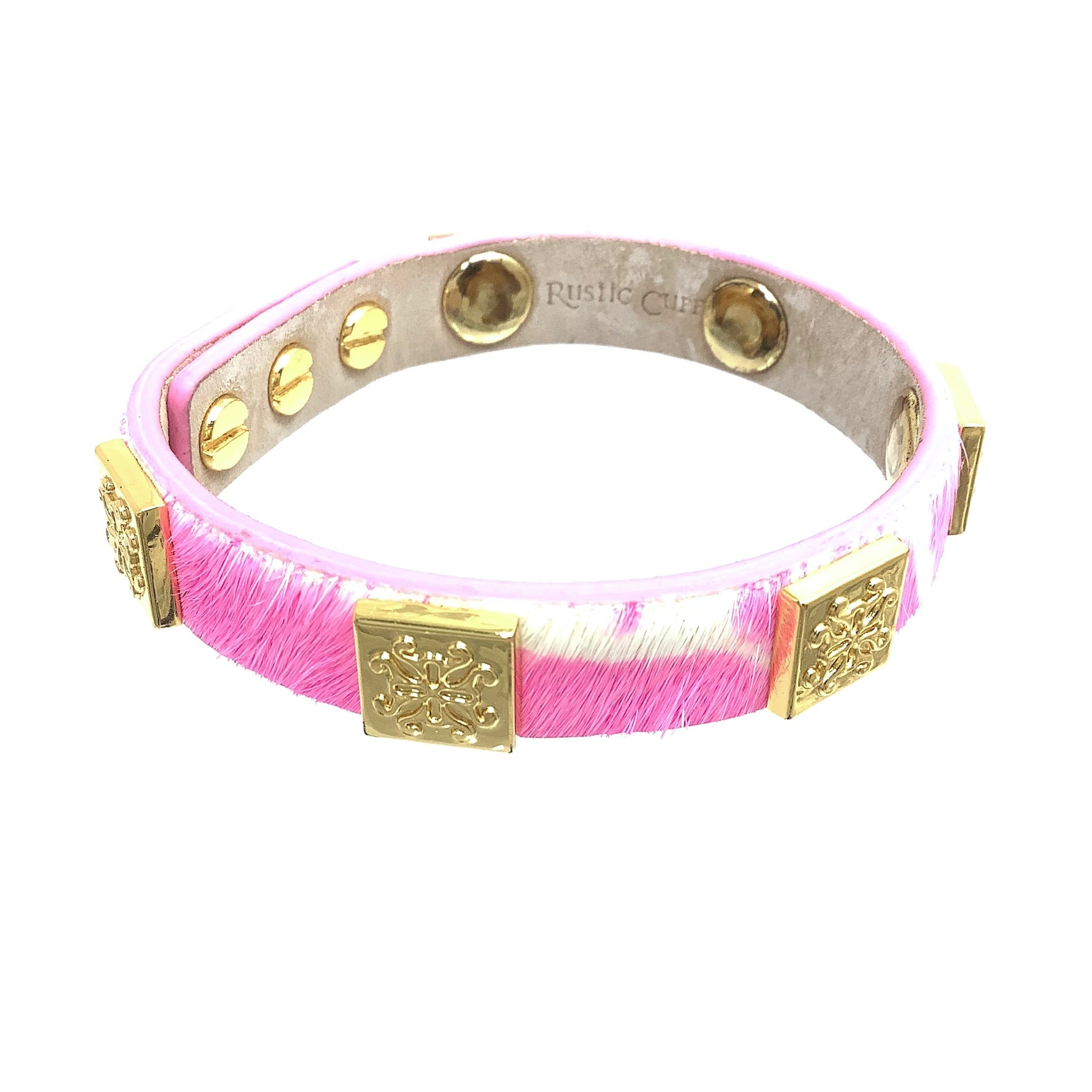 Primary Photo - BRAND: RUSTIC CUFF <BR>STYLE: BRACELET <BR>COLOR: PINK <BR>OTHER INFO: 6 MEAGAN SKINNY <BR>SKU: 258-25898-10972