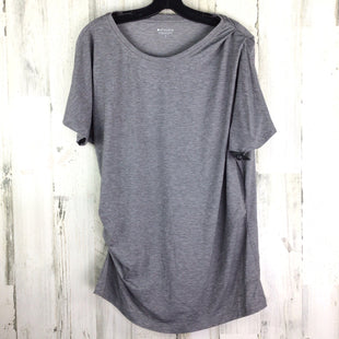 Primary Photo - BRAND: ATHLETA STYLE: ATHLETIC TOP SHORT SLEEVE COLOR: GREY SIZE: L SKU: 258-25885-33148