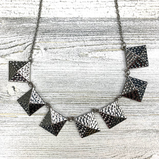 Primary Photo - BRAND:  CME STYLE: NECKLACE COLOR: SILVER OTHER INFO: SQUARES SKU: 258-25873-34366