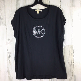 Primary Photo - BRAND: MICHAEL BY MICHAEL KORS STYLE: TOP SHORT SLEEVE BASIC COLOR: BLACK SIZE: 1X SKU: 258-258113-11029