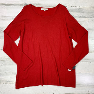 Primary Photo - BRAND: LOFT STYLE: SWEATER LIGHTWEIGHT COLOR: RED SIZE: XL SKU: 258-258113-5771