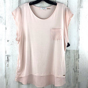 Primary Photo - BRAND: CALVIN KLEIN STYLE: TOP SHORT SLEEVE COLOR: PINK SIZE: XL OTHER INFO: SOLID SKU: 258-25873-37019