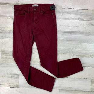 Primary Photo - BRAND: MADEWELL STYLE: JEANS COLOR: BURGUNDY SIZE: 4 SKU: 258-258111-6722