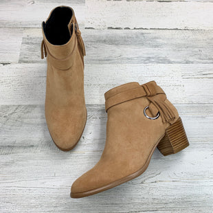 Primary Photo - BRAND: REBECCA MINKOFF STYLE: BOOTS ANKLE COLOR: TAN SIZE: 7 OTHER INFO: SUEDE W TASK SKU: 258-258111-10482