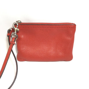 Primary Photo - BRAND: COACH STYLE: WRISTLET COLOR: RED OTHER INFO: AS IS PEBBLED SOLID SKU: 258-25885-26168