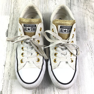 Primary Photo - BRAND: CONVERSE STYLE: SHOES FLATS COLOR: WHITE SIZE: 7 OTHER INFO: GOLD DETAIL SKU: 258-258111-5795