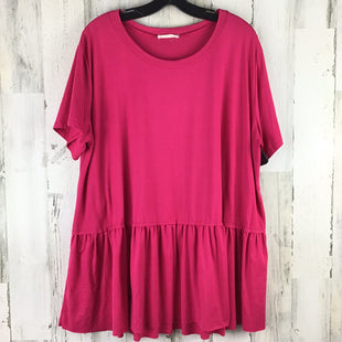 Primary Photo - BRAND: ENTRO STYLE: TOP SHORT SLEEVE COLOR: PINK SIZE: 1X SKU: 258-258111-6511
