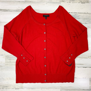 Primary Photo - BRAND: LANE BRYANT STYLE: SWEATER CARDIGAN LIGHTWEIGHT COLOR: RED SIZE: 2X SKU: 258-25877-18483