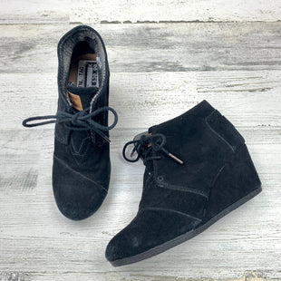 Primary Photo - BRAND: TOMS STYLE: BOOTS ANKLE COLOR: BLACK SIZE: 7 OTHER INFO: WEDGE  FITS LIKE 7 SKU: 258-25811-13159