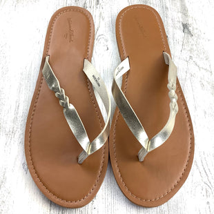 Primary Photo - BRAND: UNIVERSAL THREAD STYLE: FLIP FLOPS COLOR: GOLD SIZE: 11 OTHER INFO: BRAIDED SKU: 258-25871-13066