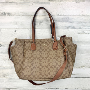 Primary Photo - BRAND: COACH STYLE: DIAPER BAG COLOR: BROWN SIZE: LARGE OTHER INFO: NWT! SIGNATURE DIAPER BAG SKU: 258-25877-15400
