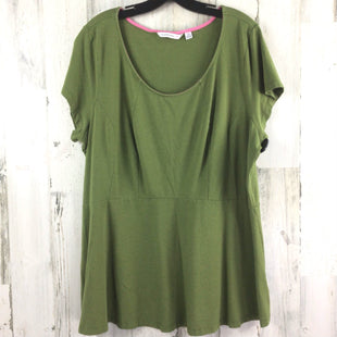 Primary Photo - BRAND: ISAAC MIZRAHI LIVE QVC STYLE: TOP SHORT SLEEVE COLOR: GREEN SIZE: 2X SKU: 258-258113-10797