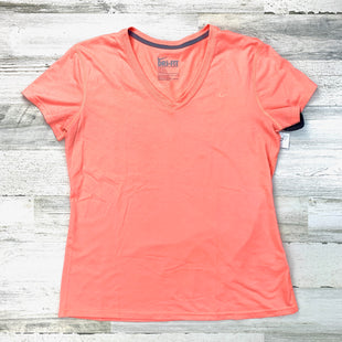 Primary Photo - BRAND: NIKE APPAREL STYLE: ATHLETIC TOP SHORT SLEEVE COLOR: ORANGE SIZE: L SKU: 258-25873-38527