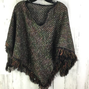 Primary Photo - BRAND:  CME STYLE: SHAWL COLOR: BLACK SIZE: ONESIZE OTHER INFO: GREEN BROWN FRINGE SKU: 258-258122-219