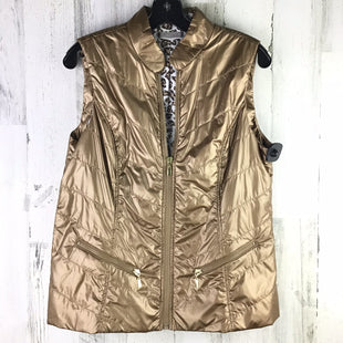 Primary Photo - BRAND: CHICOS STYLE: VEST COLOR: GOLD SIZE: M OTHER INFO: NWT  RETAIL $89.00  CHICOS SZ 1 SKU: 258-258113-8204