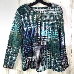 Primary Photo - BRAND: CHRISTOPHER AND BANKS STYLE: TOP LONG SLEEVE COLOR: GREEN SIZE: L OTHER INFO: PETITE HOUNDSTOOTH SKU: 258-25873-35959