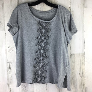 Primary Photo - BRAND: MICHAEL BY MICHAEL KORS STYLE: TOP SHORT SLEEVE COLOR: GREY SIZE: 1X SKU: 258-258120-747