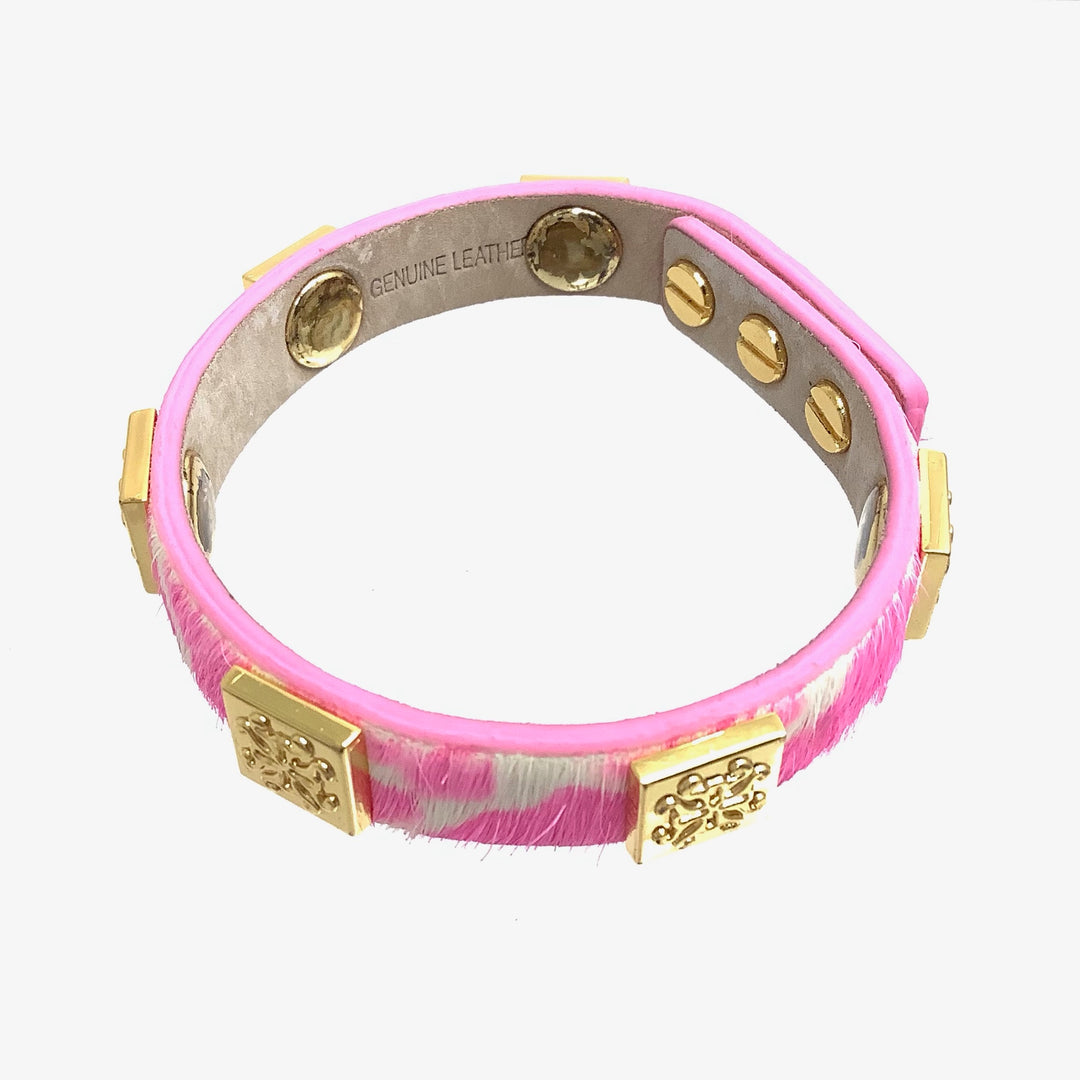 Photo #1 - BRAND: RUSTIC CUFF <BR>STYLE: BRACELET <BR>COLOR: PINK <BR>OTHER INFO: 6 MEAGAN SKINNY <BR>SKU: 258-25898-10972