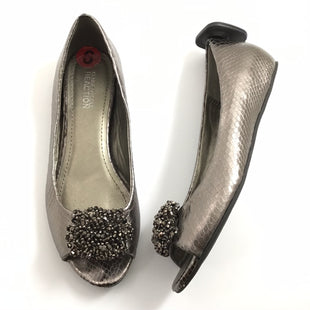 Primary Photo - BRAND: KENNETH COLE REACTION STYLE: SHOES FLATS COLOR: SILVER SIZE: 6 OTHER INFO: EMBELLISHED PEEP TOE *BS*SKU: 258-25877-18037.