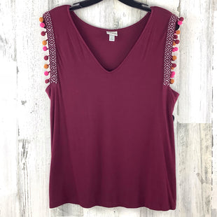 Primary Photo - BRAND: A NEW DAY STYLE: TOP SLEEVELESS COLOR: MAROON SIZE: L SKU: 258-25877-19704