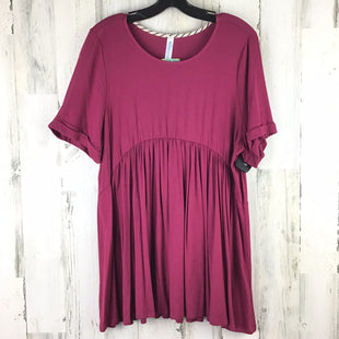 Primary Photo - BRAND:    CLOTHES MENTOR STYLE: TOP SHORT SLEEVE COLOR: MAGENTA SIZE: 2X OTHER INFO: NWT PAISLEY GRACE RT$30 SKU: 258-25873-35272
