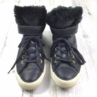 Primary Photo - BRAND: CONVERSE STYLE: SHOES FLATS COLOR: BLACK SIZE: 8 OTHER INFO: LEATHER FURRY INSIDE SKU: 258-25871-10491
