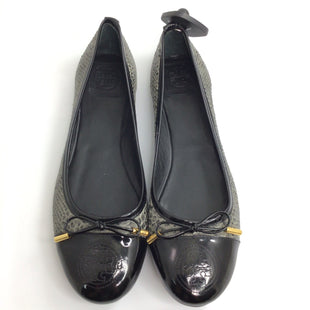 Primary Photo - BRAND: TORY BURCH STYLE: SHOES FLATS COLOR: BLACK SIZE: 10 OTHER INFO: VERBENA SNAKEPRINT PATENT SKU: 258-25885-32566