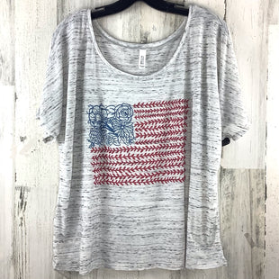 Primary Photo - BRAND: BELLA + CANVAS STYLE: TOP SHORT SLEEVE BASIC COLOR: GREY SIZE: L OTHER INFO: FLAG SKU: 258-25877-21293