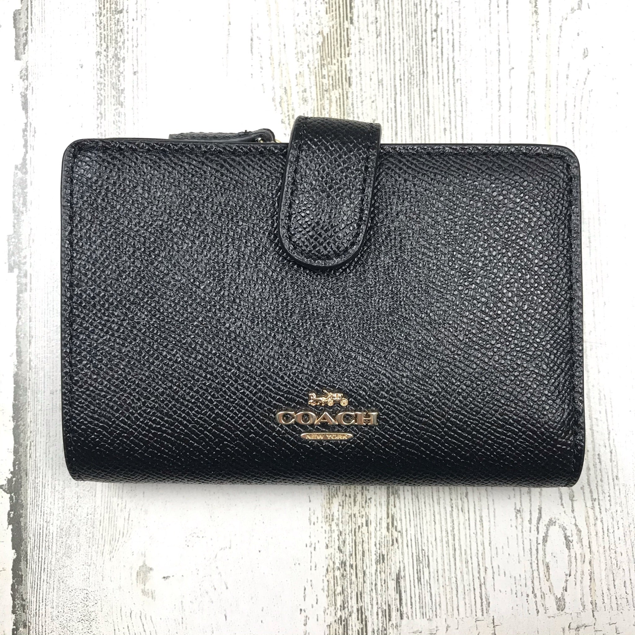 Primary Photo - BRAND: COACH <BR>STYLE: WALLET <BR>COLOR: BLACK <BR>SIZE: SMALL <BR>OTHER INFO: OUTSIDE SNAP ON BUTTON <BR>SKU: 258-258111-10350