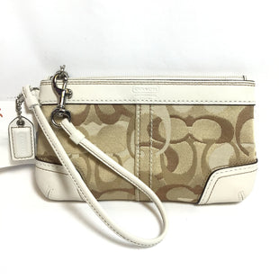 Primary Photo - BRAND: COACH STYLE: WRISTLET COLOR: CREAM OTHER INFO: HERITAGE COLLECTION SIGNATURE SKU: 258-25871-7583