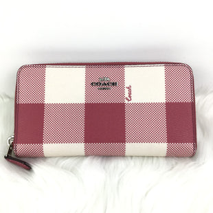 Primary Photo - BRAND: COACH STYLE: WALLET COLOR: PINK SIZE: MEDIUM OTHER INFO: BUFFALO PLAID SKU: 258-25873-34637