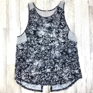 Primary Photo - BRAND: LULULEMON STYLE: ATHLETIC TANK TOP COLOR: BLACK SIZE: 6 OTHER INFO: ND GREY FLORAL SKU: 258-25871-13169