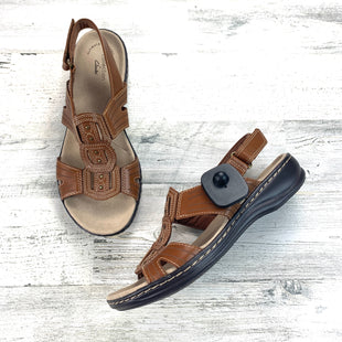 Primary Photo - BRAND: CLARKS STYLE: SANDALS FLAT COLOR: BROWN SIZE: 8 OTHER INFO: NEW! WIDE SKU: 258-25877-19221