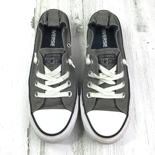 Primary Photo - BRAND: CONVERSE STYLE: SHOES FLATS COLOR: GREY SIZE: 7.5 OTHER INFO: SLIP ONS SKU: 258-25885-25480